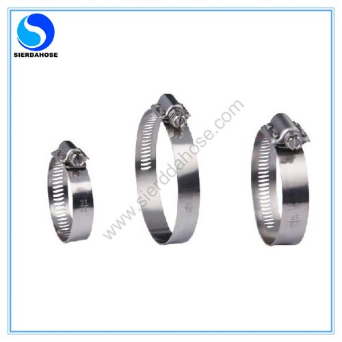 8.4.11 American 15.8mm Bandwidth 2-Pcs Housing Perforated Band Hose Clamp-1